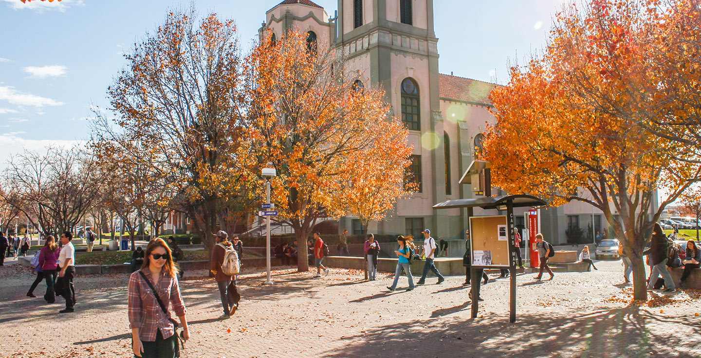 A sunny fall day on Auraria Campus.