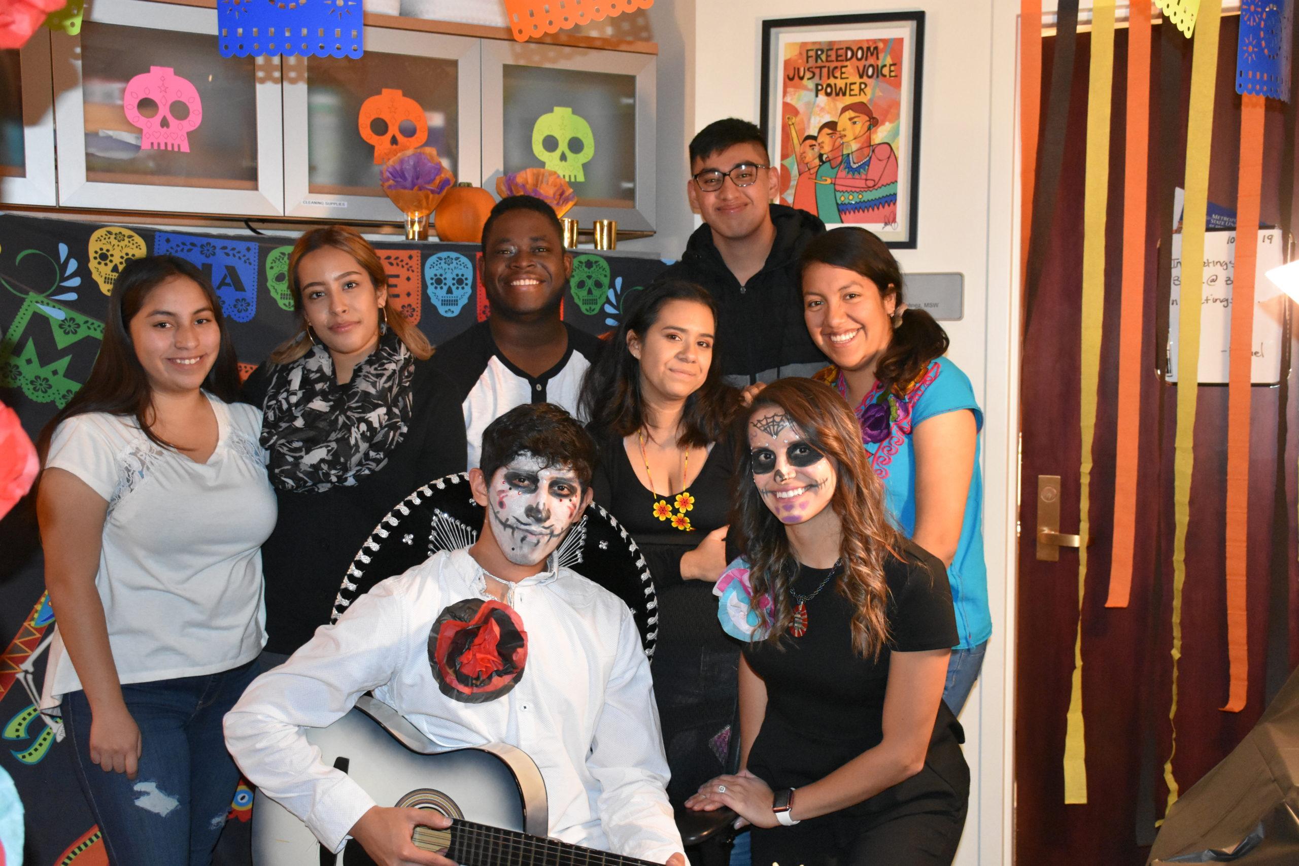 CAMP students celebrating Dia de los Muertos