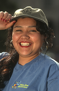 Hispanic Serving Institution - Hispanic woman smiling
