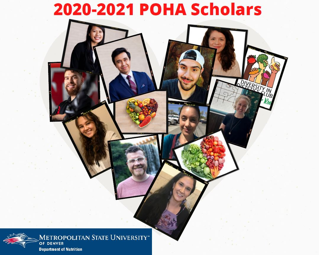 Post baccalaureate Opportunities for Hispanic Americans (POHA) Program Scholars in shape of a heart