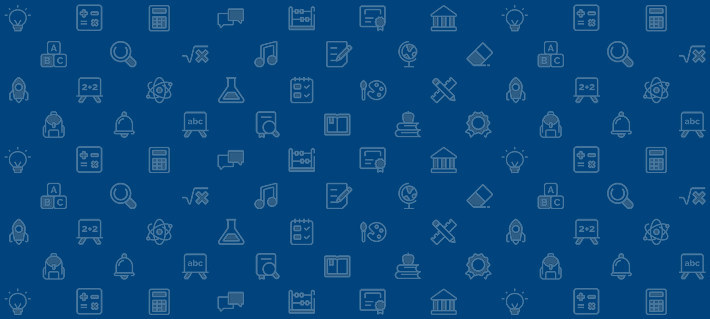 Graphic image background consisting of tiled icons of images relating to the field of education.