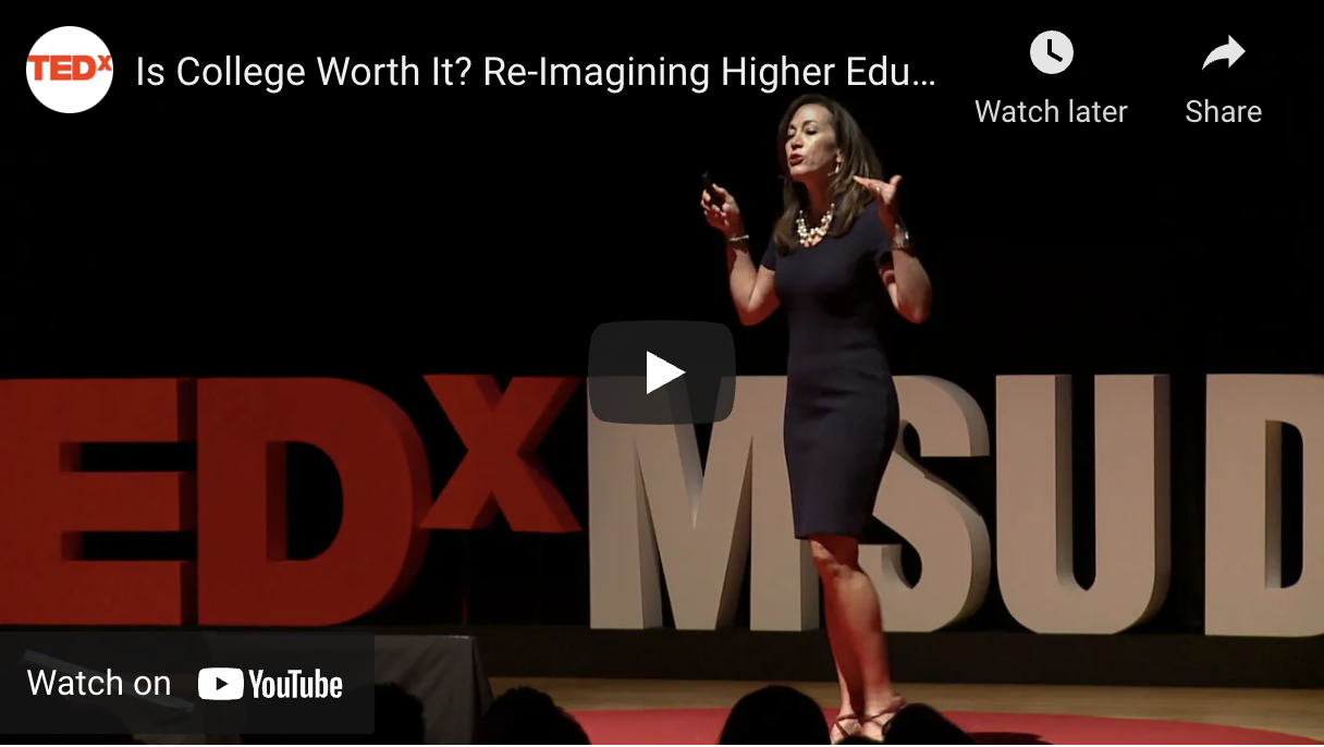 Thumbnail: TEDx MSU Denver: Is college worth it?