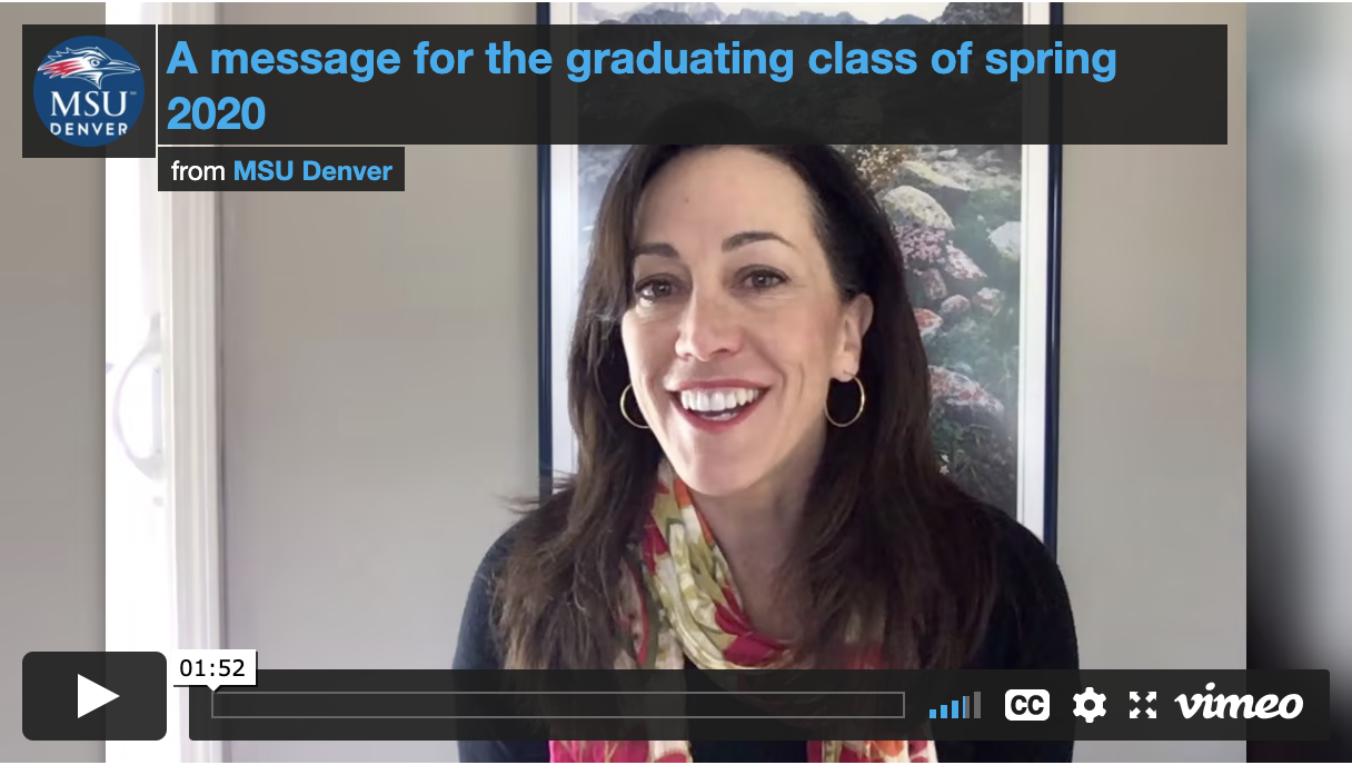 Thumbnail: A message for the graduating class of Spring 2020