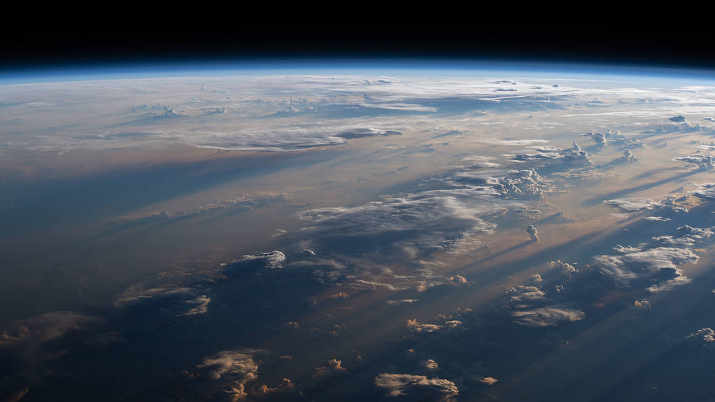 A photo of the Earth's surface from space.