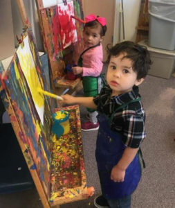 Early Childhood Education children painting