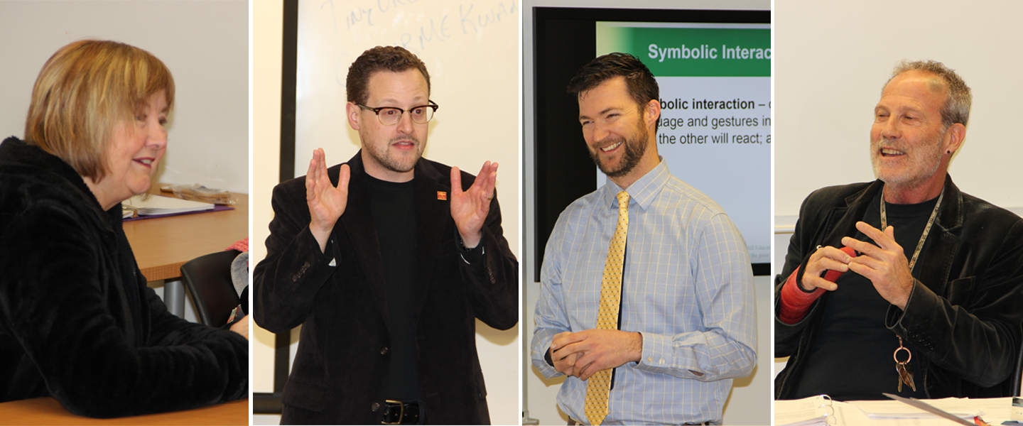 Four of our faculty teaching.